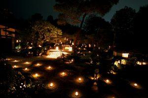 Arreglo lamparas de jardin